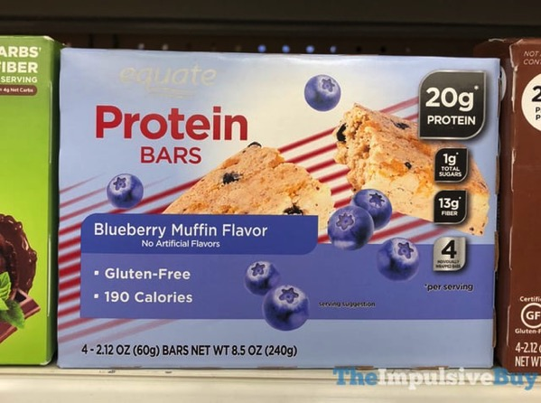 Equate Blueberry Muffin Protein Bars