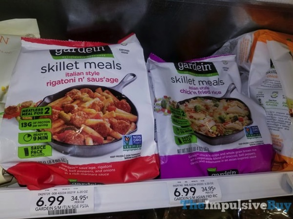 Gardein Skillet Meals  Rigatoni n Saus age and Chick n Fried Rice