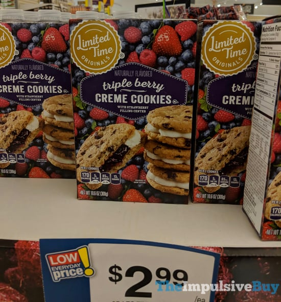 Giant Limited Time Originals Triple Berry Creme Cookies