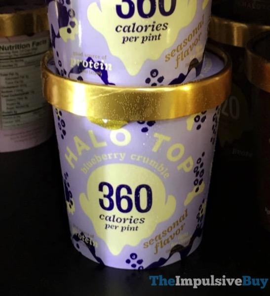 Halo Top Seasonal Flavor Blueberry Crumble Light Ice Cream