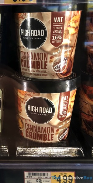 High Road Cinnamon Crumble Luxury Ice Cream