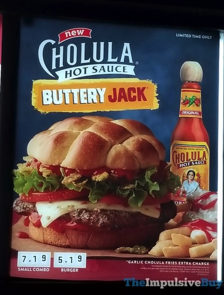 Jack in the Box Cholula Hot Sauce Buttery Jack