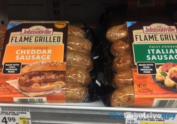 Johnsonville Flame Grilled Cheddar Sausage and Italian Sausage