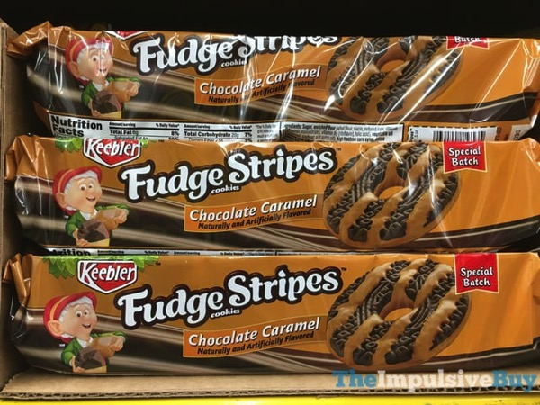 Keebler Special Batch Chocolate Caramel Fudge Stripes Cookies