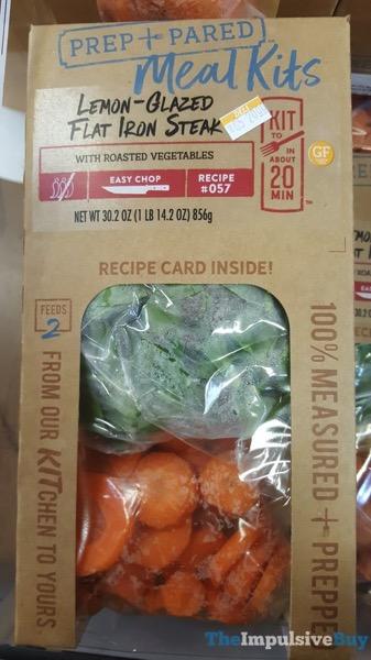 Kroger Prep+Pared Meal Kits Lemon Glazed Flat Iron Steak