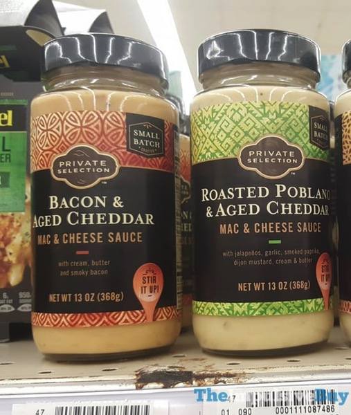 Kroger Private Selection Mac  Cheese Sauce  Bacon  Aged Cheddar and Roasted Poblano  Aged Cheddar