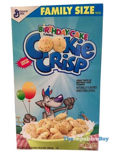 Limited Edition Birthday Cake Cookie Crisp Cereal