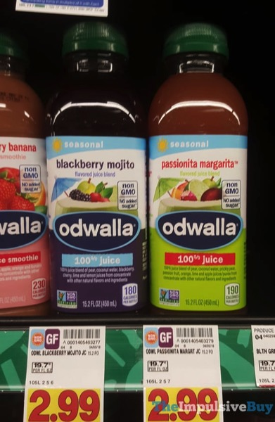Odwalla Seasonal Blackberry Mojito and Passionita Margarita