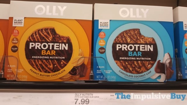 Olly Protein Bar  Peanut Butter Chocolate and Chocolate Coconut Chip