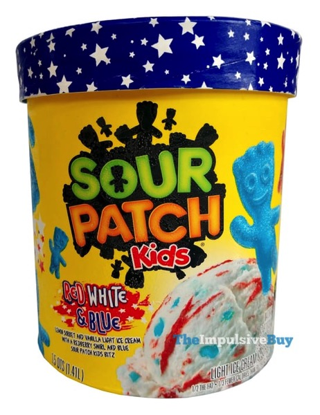Sour Patch Kids Rred White  Blue Ice Cream  Sorbet