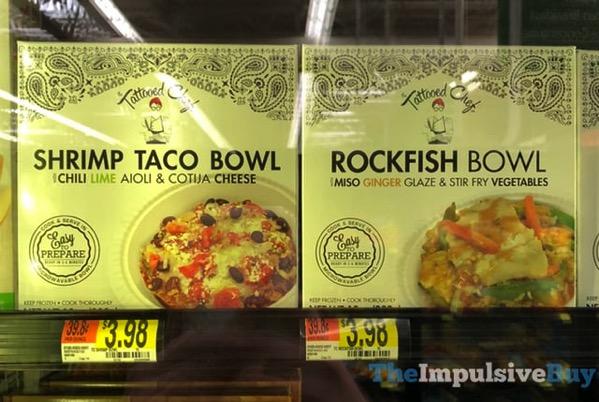 The Tattooed Chef Shrimp Taco Bowl and Rockfish Bowl