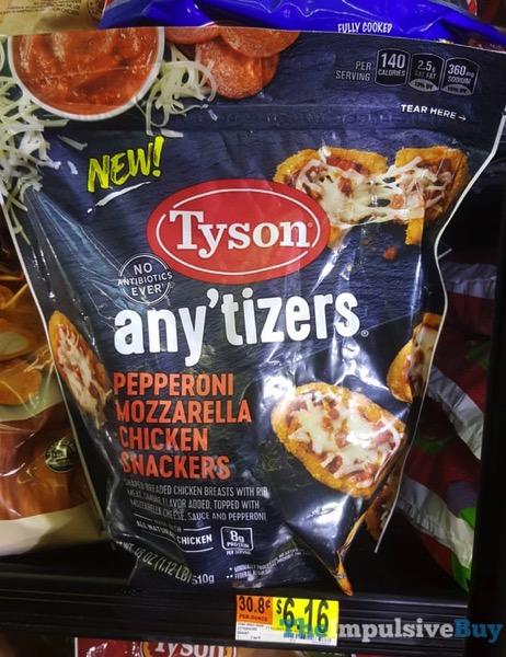 Tyson Any tizers Pepperoni Mozzarella Chicken Snackers