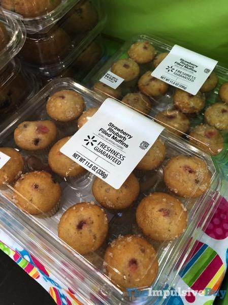 Walmart Strawberry Rhubarb Filled Muffins