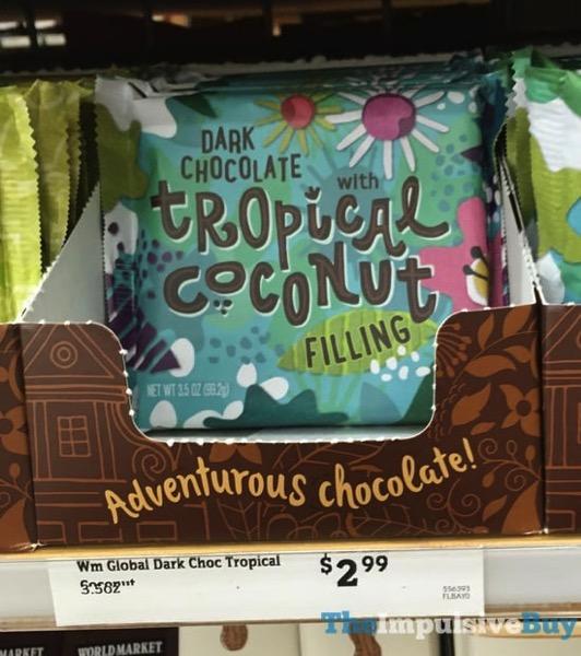 World Market Dark Chocolate Tropical Coconut Bar