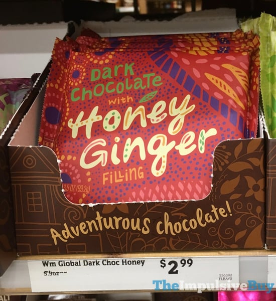 World Market Dark Chocolate with Honey Ginger Bar