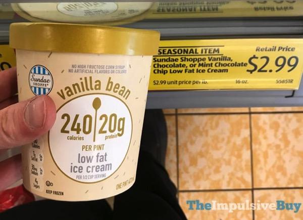 ALDI Sundae Shoppe Vanilla Bean Low Fat Ice Cream