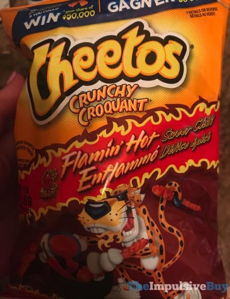 Cheetos Crunchy Flamin Hot Sweet Chili