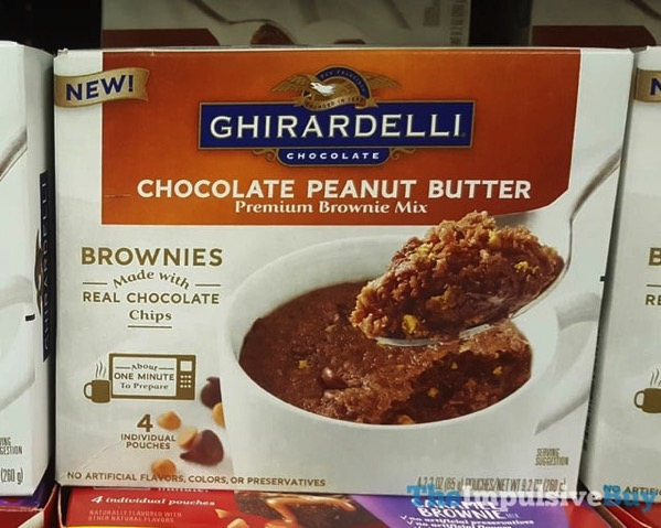 Ghirardelli Chocolate Peanut Butter Premium Mug Brownie Mix