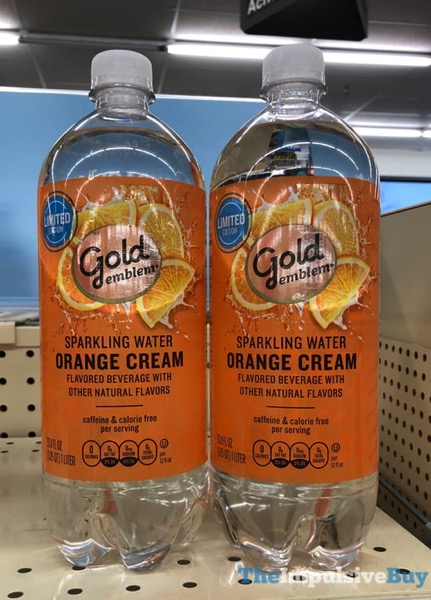 Gold Emblem Limited Edition Orange Cream Sparkling Water