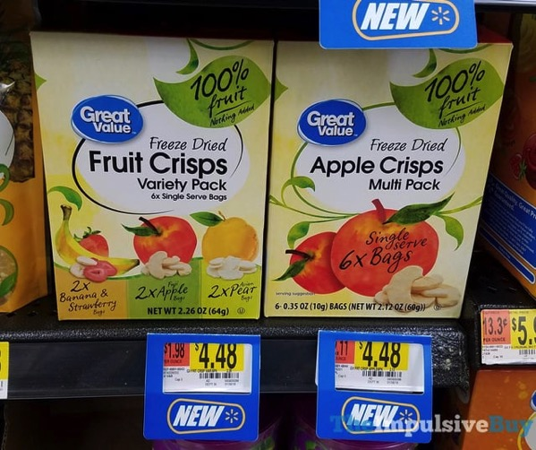 Great Value Freeze Dried Fruit Crisps Vairety Pack and Multi Pack