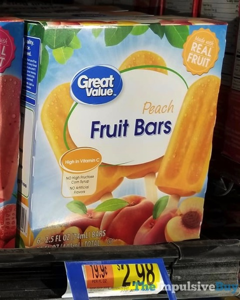 Great Value Peach Fruit Bars