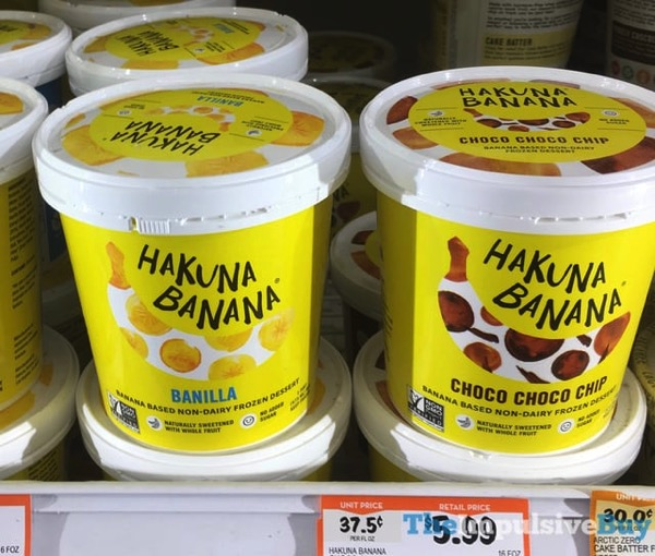 Hakuna Banana Banilla and Choco Choco Chip Non Dairy Frozen Dessert