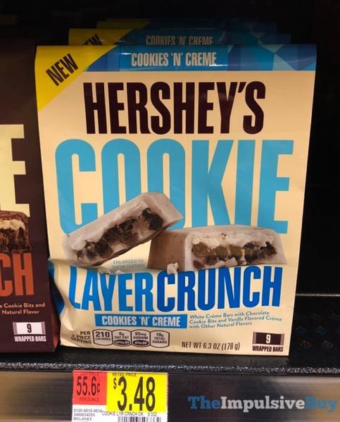 Hershey s Cookies  N Creme Cookie Layer Crunch Bars
