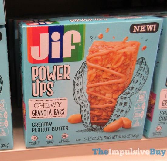 Jif Power Ups Creamy Peanut Butter Chewy Granola Bars