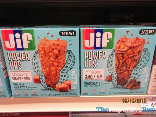 Jif Power Ups Salted Caramel and Chocolate Chewy Granola Bars