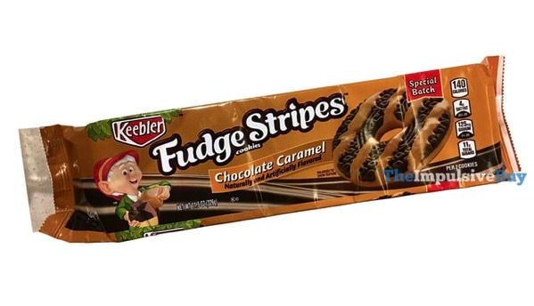 Keebler Special Batch Chocolate Caramel Fudge Stripes Cookies