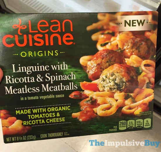 Lean Cuisine Origins Linguine with Ricotta  Spinach Meatless Meatballs