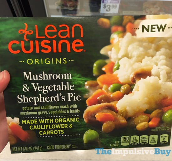 Lean Cusine Origins Mushroom  Vegetable Shepherd s Pie