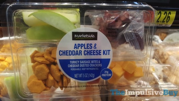 Marketside Apples  Cheddar Cheese Kit with Turkey Sausage Bites  Cheddar Dusted Crackers