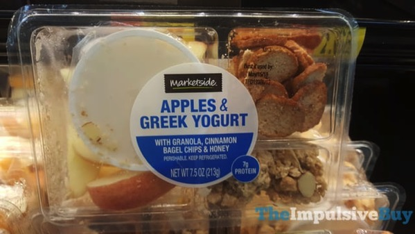 Marketside Apples  Greek Yogurt with Granola Cinnamon Bagel Chips  Honey