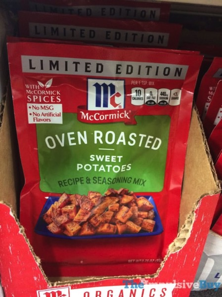 McCormick Limited Edition Oven Roasted Sweet Potatoes Seasoning Mix