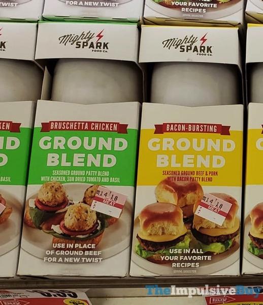 Mighty Spark Bruschetta Chicken Ground Blend and Bacon Bursting Ground Blend