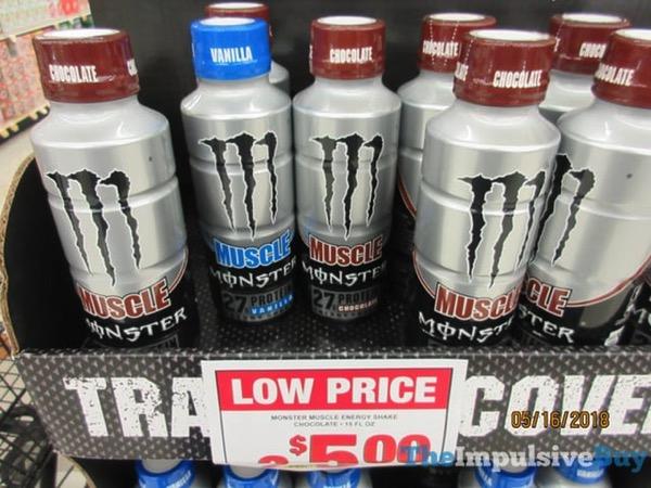 Monster Muscle Energy Shake 2018 Bottle  Vanilla and Chocolate