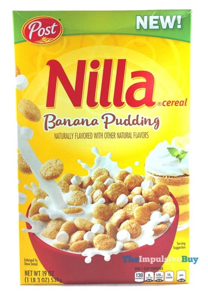 Post Banana Pudding Nilla Cereal