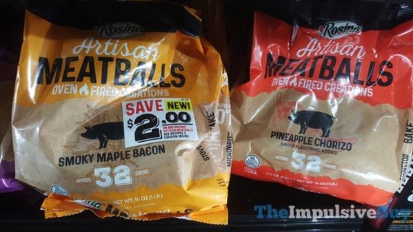 Rosina Artisan Meatballs  Smoky Maple Bacon and Pineapple Chorizo