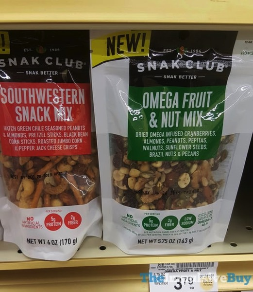 Snak Club Southwestern Snack Mix and Omega Fruit  Nut Mix