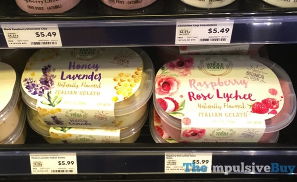 Whole Foods Limited Botanical Edition Honey Lavender and Raspberry Rose Lycess Italian Gelato