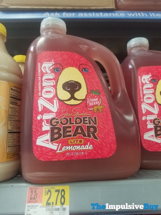 Arizona Jack Nicklaus Golden Bear Lite Strawberry Lemonade