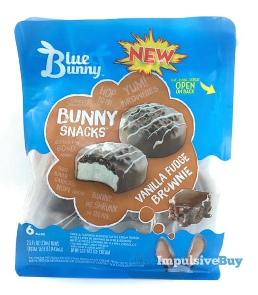 Blue Bunny Bunny Snacks Vanilla Fudge Brownie