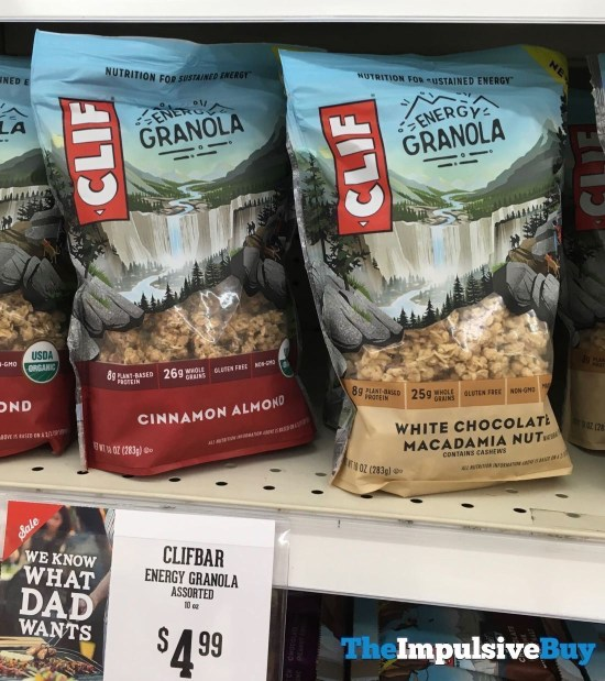 Clif Energy Granola  Cinnamon Almond and White Chocolate Macadamia Nut