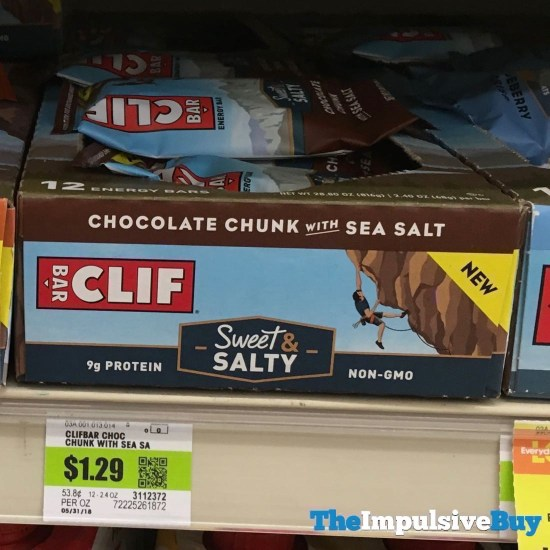 Clif Sweet  Salty Chocolate Chunk with Sea Salt Bar