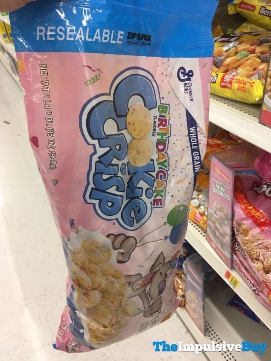 General Mills Birthday Cake Cookie Crisp Cereal in a Bag