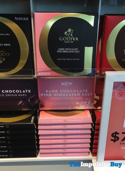 Godiva Dark Chocolate Pink Himalayan Salt Single Origin Bars