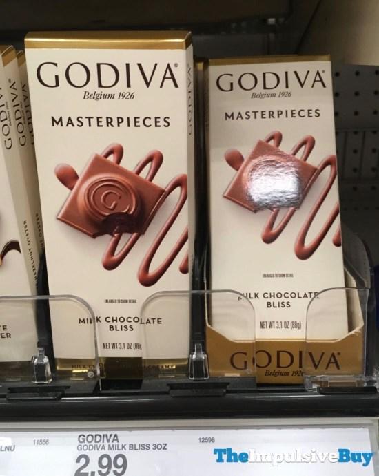 Godiva Masterpieces Milk Chocolate Bliss 3 1 oz Bar