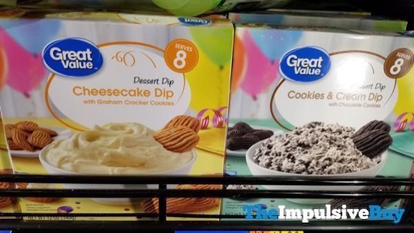 Great Value Dessert Dips  Cheesecake Dip and Cookies  Cream Dip