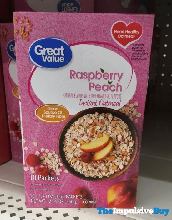 Great Value Raspberry Peach Instant Oatmeal